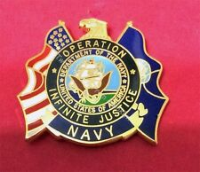 OPERATION INFINITE JUSTICE US NAVY PIN