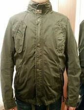 GENUINE MENS khaki green DIESEL COAT/JACKET SIZE UK MEDIUM / SUPERB