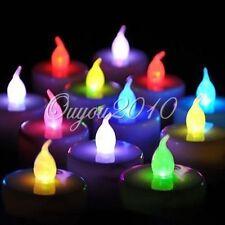 LED Kerze Teelicht 7Farbwechsel Teelichter batteriebetrieb Licht flammenlos Akku