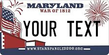 Maryland 2010 License Plate Tag Personalized Auto Car Custom VEHICLE OR MOPED