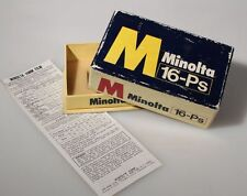 MINOLTA 16-PS BOX ONLY W/ 16MM FILM GUIDE