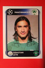 PANINI CHAMPIONS LEAGUE 2010/11 # 235 PANATHINAIKOS FC LETO BLACK BACK MINT!