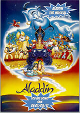 Aladdin the Musical Ticket Card A5 Personalised with own words