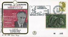 "CE38A - FDC Council of Europe ""Shimon PERES, Prime Minister of Israel"" 04-1986"