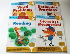 KUMON Workbooks Grade 5 Set: Math + Reading  (4 books) --FREE Expedited Shipping