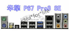 NEW I/O IO SHIELD BACKPLATE for ASRock P67 Pro3 SE #T2611 YS