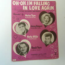 songsheet OH OH I'm FALLING IN LOVE AGAIN, Marion Ryan Jimmy Rodgers 1958