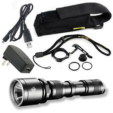 Nitecore MH25 Rechargeable Flashlight /w USB Charger and Wall Adaptor