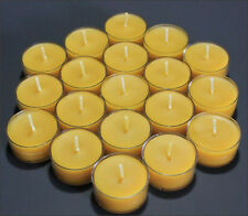 150 BEAUTIFUL 100% BEESWAX TEALIGHT CANDLE NO ADDITIVES
