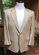 Canali Made In Italy Light Tan 100% Wool Pick Stitched 2-Button Sports Coat