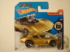 HOT WHEELS 2017 '68 CORVETTE - GAS MONKEY GARAGE DHN90 SHORT CARD RARE H 99