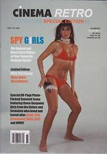 CINEMA RETRO SPY GIRLS LIMITED EDITION SPECIAL ISSUE-PACKED WITH RARE PHOTOS