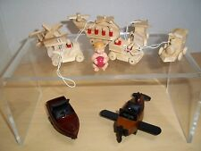 Lot of Dollhouse Miniature Toy Airplanes, Cars, Trains,  & Trucks