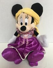 Disney Park Exclusive Minnie Mouse As Rapunzel Tangled Princess Plush Doll HTF