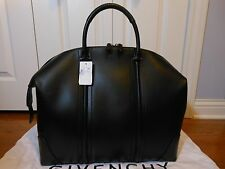 New Auth Givenchy $2625 Men's 24-Hour Leather Satchel Tote Bag Handbag, Black