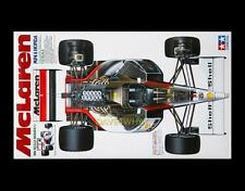 Vintage Tamiya 1/12 MCLAREN MP4/6 HONDA F1 Senna Berger Race Car Kit 12028 MIB