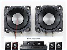 "2x 2.5"" 50mm 8Ω Ohm 15W Full Range Audio Loud Speaker Loudspeaker for Samsung HT"