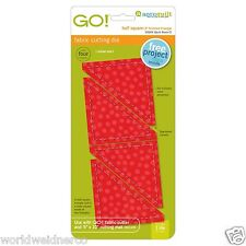 "AccuQuilt GO! & Baby Half Square-3"" Fabric Cutting Die 55009 Quilting Sewing"