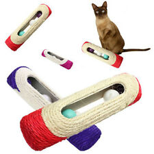 Hot sale Pet Cat Toy Rolling Sisal Scratching Post 3 Trapped Ball Training