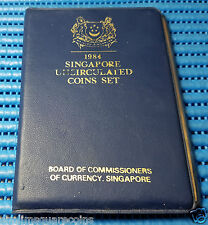 1984 Singapore Mint's Rat Uncirculated Coin Set (1¢ - $1 Stylised Lion Coin)