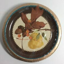 "Autumn Beauty Fall Harvest Leaves Thanksgiving Party 7"" Paper Dessert Plates"