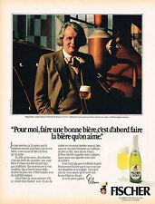 PUBLICITE ADVERTISING 104  1980  FISCHER  bière MR MICHEL DEBUS