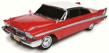 "1958 Plymouth Fury 2-tone Red & White  ""Christine"" movie car 1:18 Auto World 102"