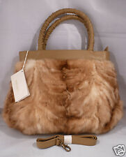NEW NAENZO ORYLAG SABLE FUR Double Handle Satchel Shoulder Hand Bag