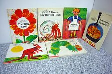 Lot of 6 Eric Carle Picture Books Very Good  PB Seed Apron Caterpillar Pancakes