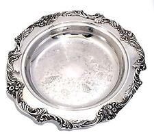 "Reed Barton King Francis Silver Plate Large 13"" Tray Pie Server Dish Holder Tray"