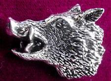 Grande dettaglio Bold PELTRO CINGHIALI CACCIA SNARLING CROSS MAIALE Spilla Pin