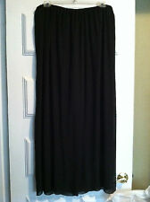 NEW Alex Evenings Black Chiffon Palazzo Evening Pants, Mid-calf Size 1X Plus $68