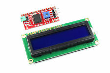 16x2 Azul LCD con Funduino I2C Interfaz MB-063 1602 HD44780 Fundente Taller