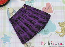 ☆╮Cool Cat╭☆160.【PE-11】Blythe/Pullip Accordion Short Skirt #Skeleton Deep Purple