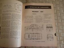 REVUE TECHNIQUE CARROSSERIE PEUGEOT 504