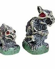 Two Zombie Garden Rodents Blow Mold Plastic Halloween Yard Lawn Decorations