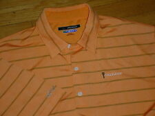 GREG NORMAN EAGLEWOOD GOLF GTECH SHIRT NEON-ORANGE LOGOS MENS XL SHARP!