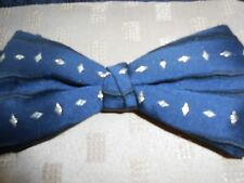 Moss Bros Dark Blue and Gold Bow Tie