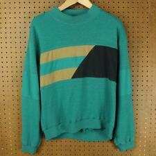 vtg 80's 90's IMPRINTS colorblock sweatshirt LARGE vaporwave saved by the bell
