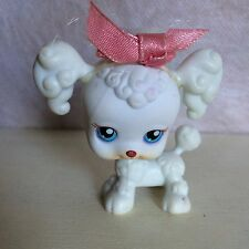 Littlest Pet Shop #17 White FRENCH POODLE Puppy Dog with Hair