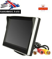 NUOVO 2016 UK 5 POLLICI DIGITALE a Colori TFT LCD Screen AUTO RETROMARCIA MONITOR CCTV