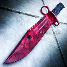 "13"" CS GO Tactical Fixed Blade Hunting Knife Bayonet Bowie RUBY DOPPLER Survival"