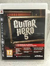 GUITAR HERO 5. JEUX PS3 AVEC NOTICE PLAYSTATION