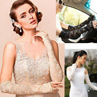 Women's Sexy Fingerless Lace Wedding Party Travel Driving Long Arm Elbow Gloves