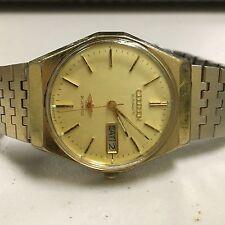 Vintage CITIZEN Automatic Mens Gold Tone Wrist Watch 21Jewels