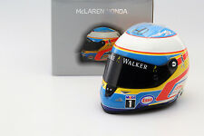 Fernando Alonso McLaren mp4-30 formule 1 2015 Casque 1:2 schuberth