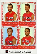 2011 AFL Teamcoach Trading Cards Silver Parallel Team Set Sydney (11)