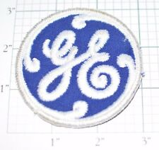 General Electric GE Vintage Embroidered Clothing Patch Applique Blue Sew-On Old