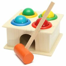 Hammering Wooden Ball Hammer Game Children Kids Early Learning Educational Toy