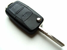 Skoda Octavia Fabia Superb 2 Button Flip Remote Key Fob Case + Blank HAA Blade